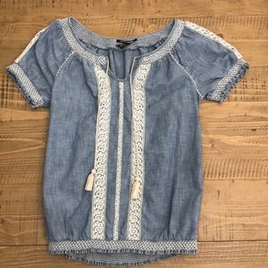 Embroidered Lucky Brand Blouse